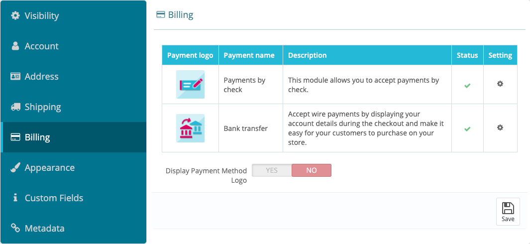 Payment Services are at your control