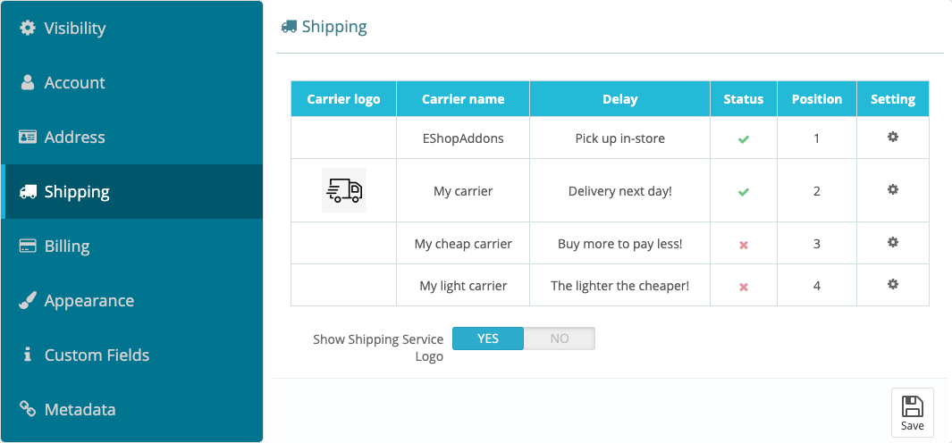 Shipping Options are on Your Control